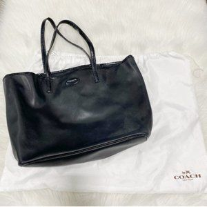 COACH Metro Saffiano Black Tote Bag